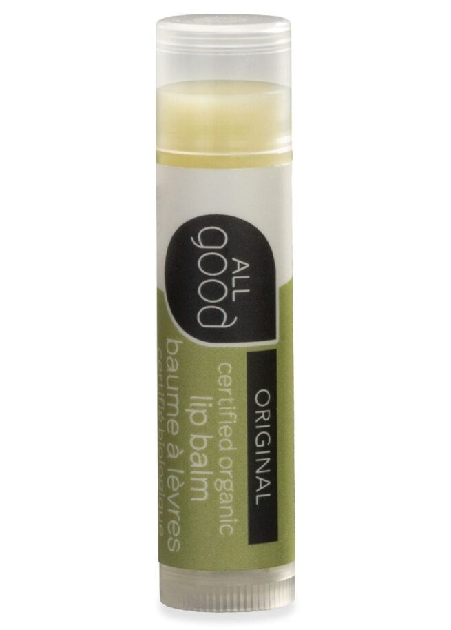 All Good original lip balm with drop shadow is shown on a white background.
