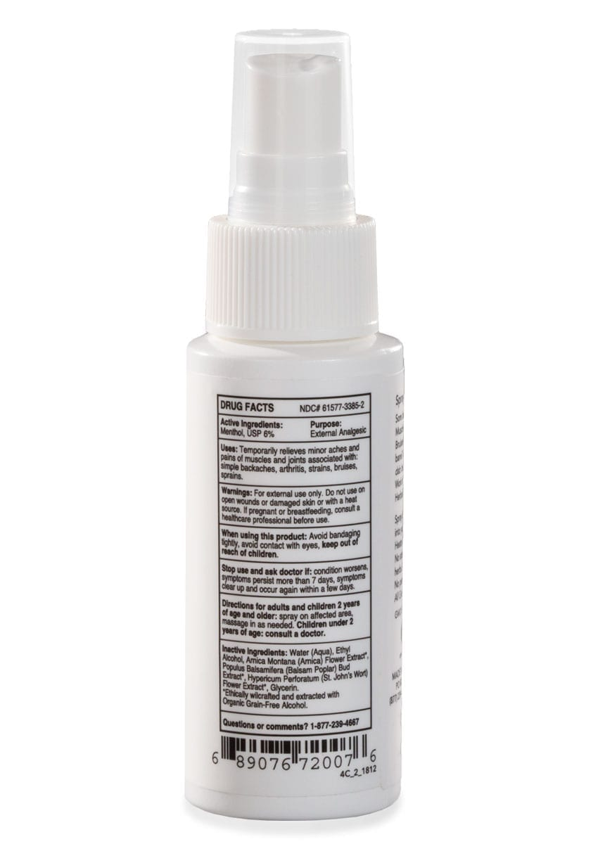 All Good herbal freeze with arnica back of product on white background