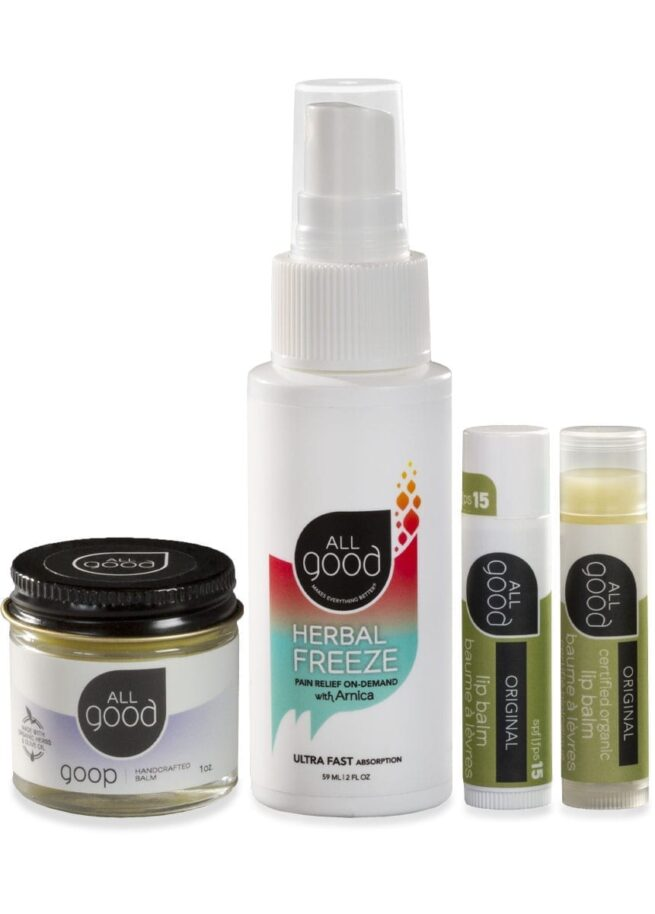 4 All Good products with drop shadow are shown against a white background.