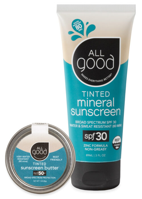 An image of All Good's Tinted Mineral Sunscreen Combo