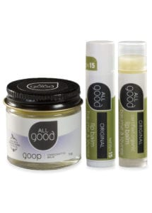 All Good originals gift set products with drop shadow are shown against a white background.