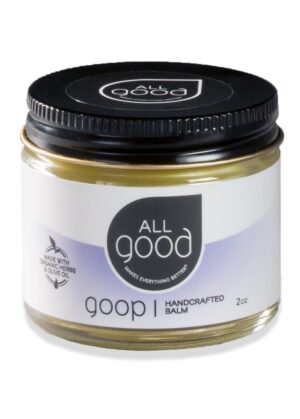 All Good Goop 2oz pictured with drop shadow on a white background.