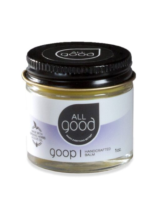 All Good Goop 1oz jar pictured with drop shadow on a white background.