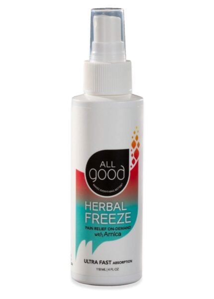 All Good herbal freeze with arnica product on white background