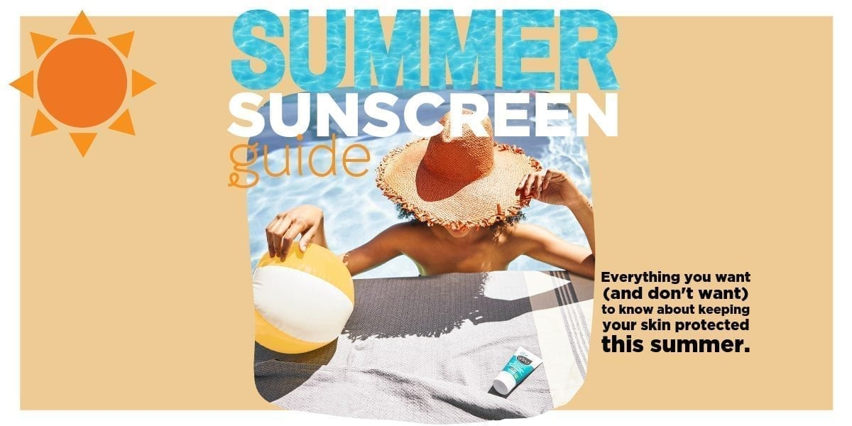 All Good summer sunscreen guide graphic