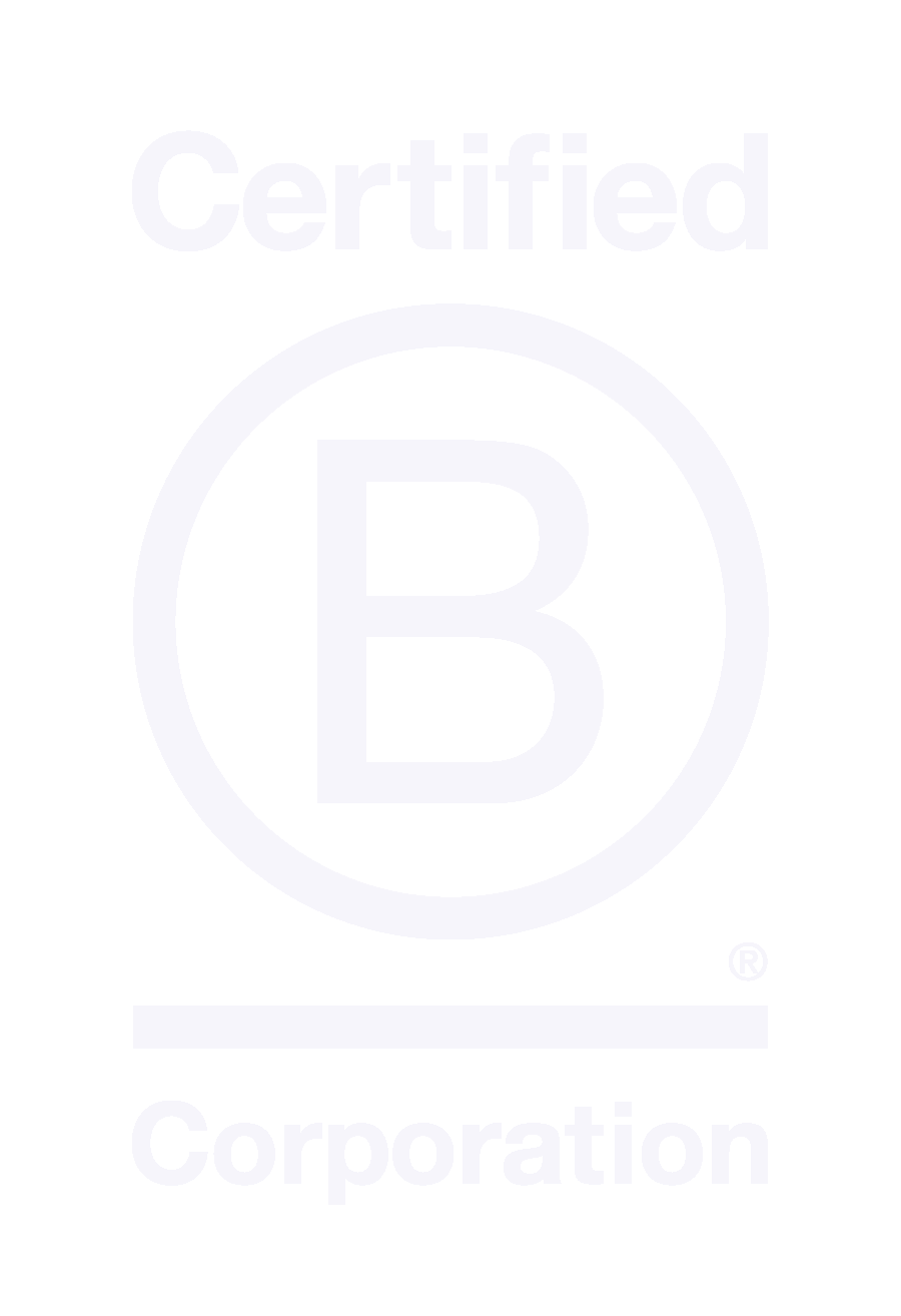White B Corp Certified logo on transparent background
