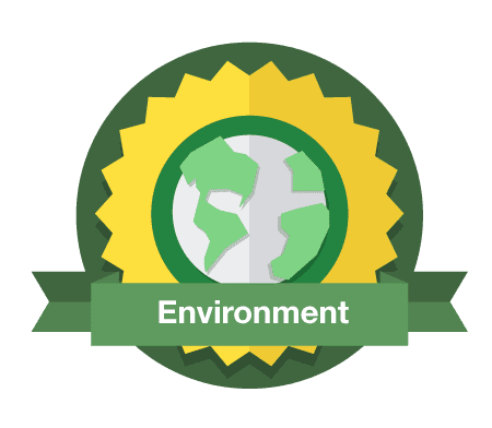 Environment crest on transparent background