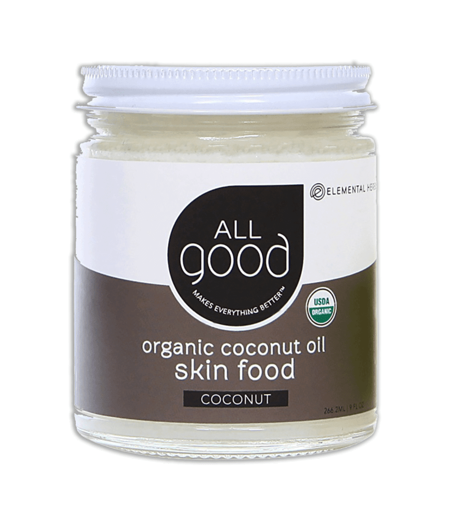 All Good organic coconut oil skin food on transparent background