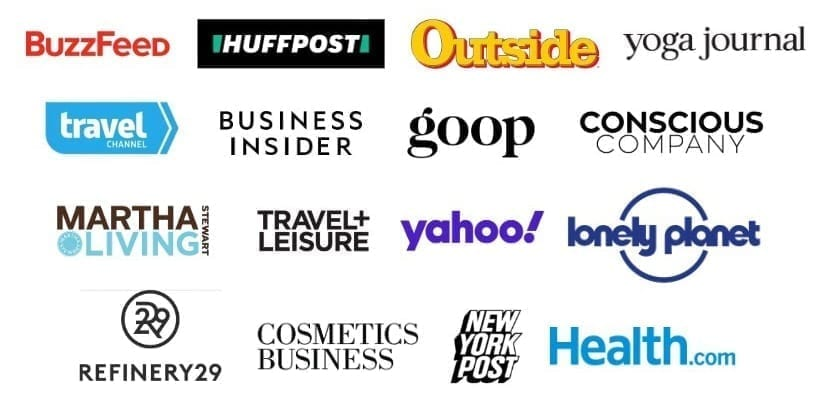 Media sources that featured All Good logos on white background