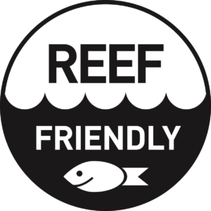 Reef Friendly logo in black on transparent background