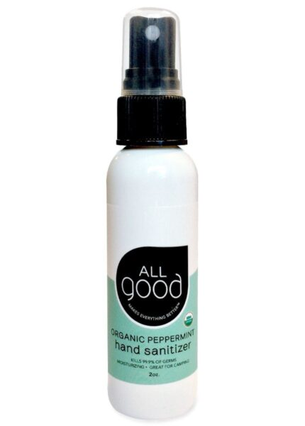 All Good 2 oz Peppermint Hand Sanitizer on a white background.